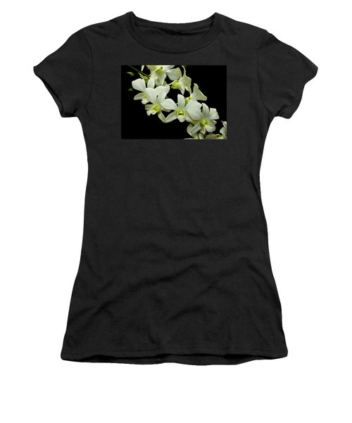 White Orchids Women's T-Shirt (Junior Cut) by Swank Photography