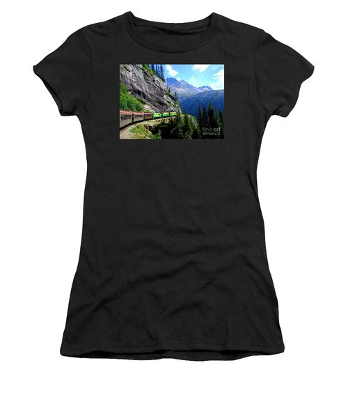 White Pass And Yukon Route Railway In Canada Women's T-Shirt (Athletic Fit)