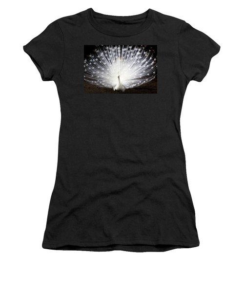 White Peacock Women's T-Shirt (Junior Cut) by Daniel Precht