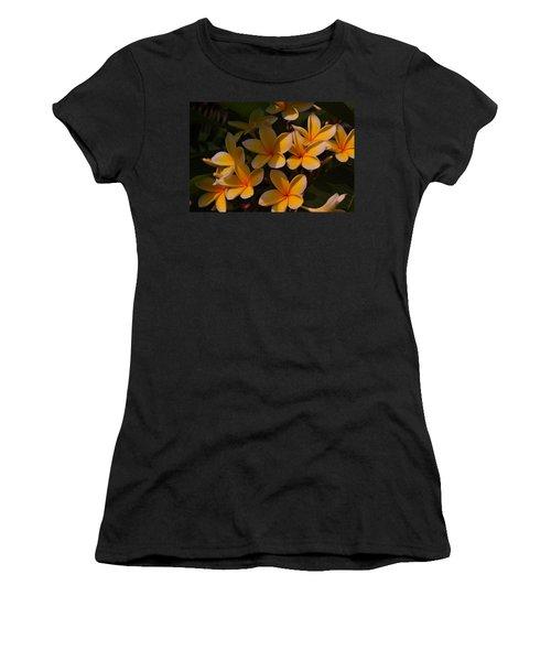 White Plumeria Women's T-Shirt
