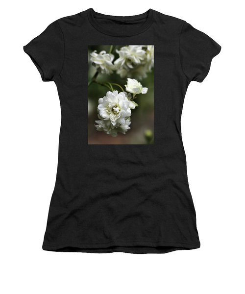 Women's T-Shirt (Junior Cut) featuring the photograph White Roses by Joy Watson