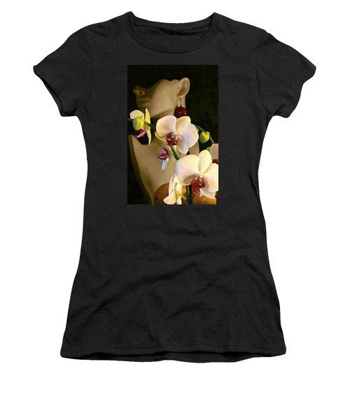 Women's T-Shirt (Junior Cut) featuring the photograph White Shoulders by Elf Evans