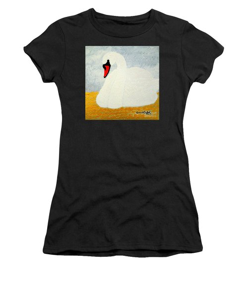 White Swan Lake Women's T-Shirt (Athletic Fit)