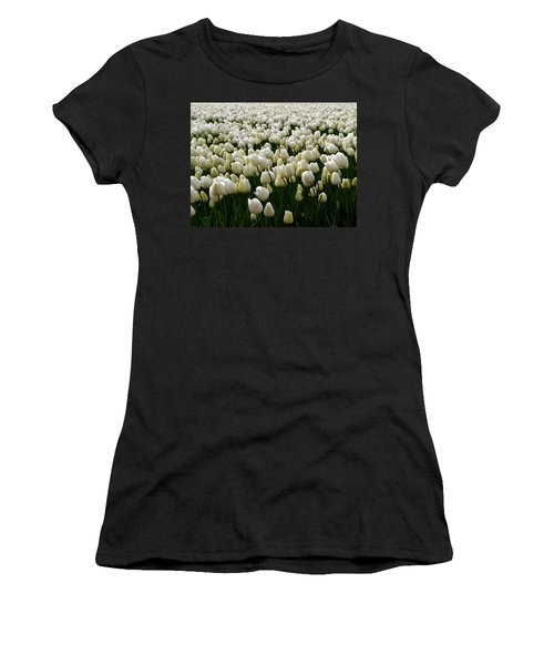 White Tulip Field  Women's T-Shirt