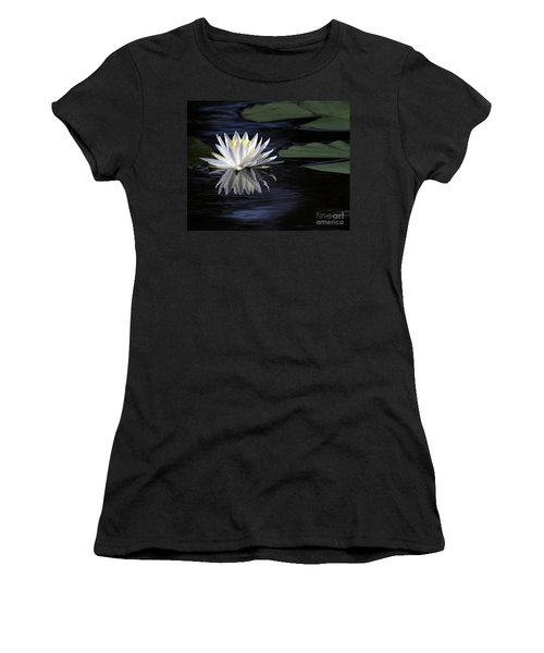 White Water Lily Left Women's T-Shirt