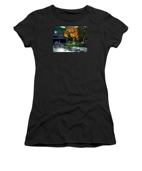 Wicked In The Darkest Hours Of Night Women's T-Shirt (Junior Cut) by Jacqueline Lloyd