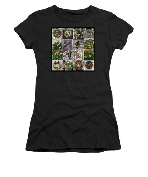Williamsburg Christmas Collage Squared 2 Women's T-Shirt