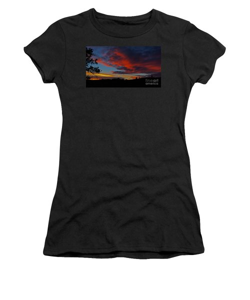 Black Hills Sunset Women's T-Shirt (Athletic Fit)