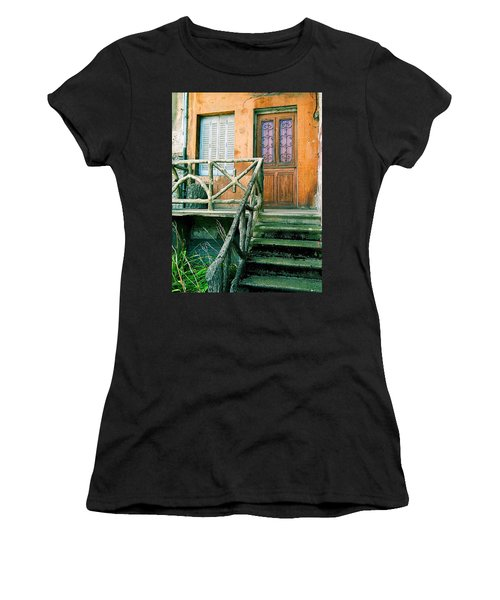 Women's T-Shirt (Junior Cut) featuring the photograph Windows And Doors 25 by Maria Huntley