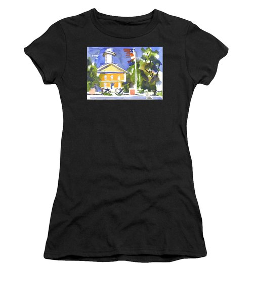 Windy Day At The Courthouse Women's T-Shirt
