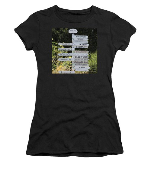 Winery Street Sign In The Sonoma California Wine Country 5d24601 Square Women's T-Shirt
