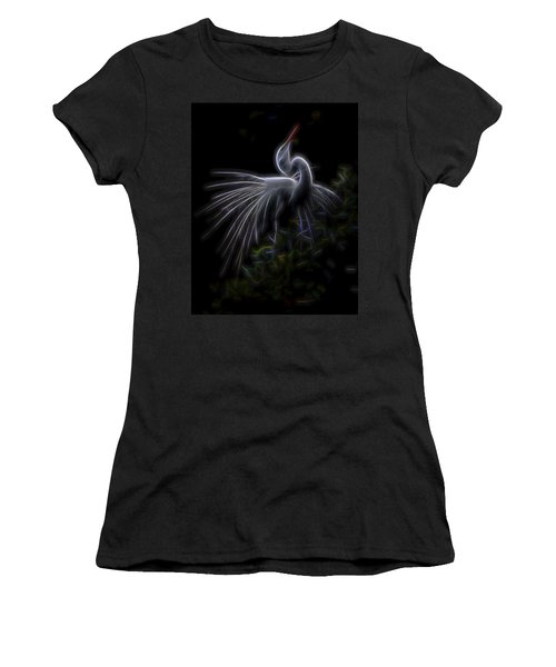 Women's T-Shirt (Junior Cut) featuring the digital art Winged Romance 2 by William Horden