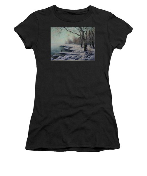 Winter Coming On The Riverside Women's T-Shirt