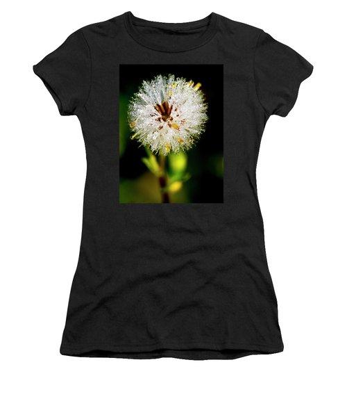 Women's T-Shirt (Junior Cut) featuring the photograph Winter Dandelion by Pedro Cardona