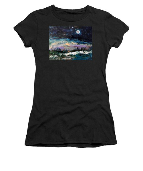 Winter Eclipse Women's T-Shirt (Athletic Fit)
