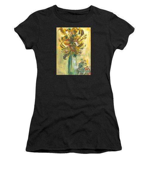 Winter Flowers Women's T-Shirt (Athletic Fit)