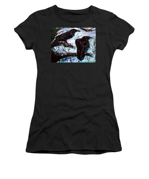 Women's T-Shirt (Junior Cut) featuring the painting Winter Is Coming by D Renee Wilson