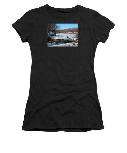 Winter On Sauk Lake 2 Women's T-Shirt (Athletic Fit)