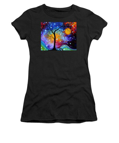 Winter Sparkle Original Madart Painting Women's T-Shirt