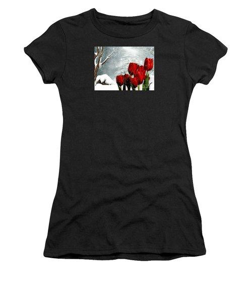 Winter Tulips Women's T-Shirt