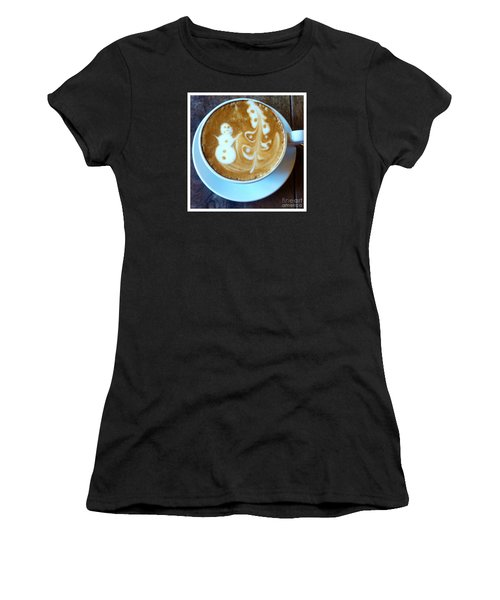 Winter Warmth Latte Women's T-Shirt (Athletic Fit)