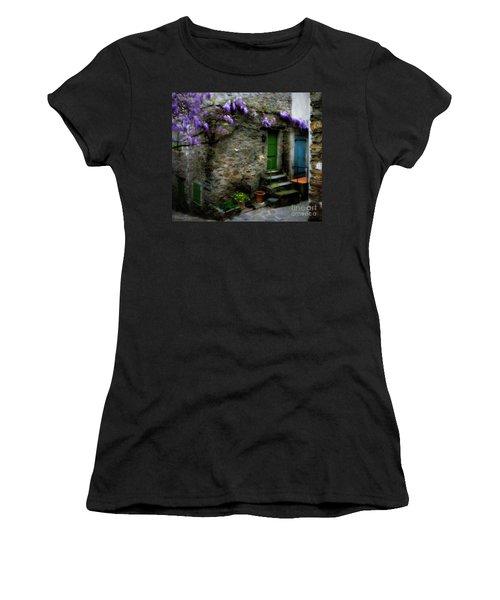 Wisteria On Stone House Women's T-Shirt