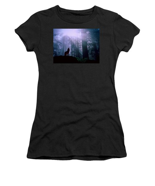 Wolf In The Woods Women's T-Shirt