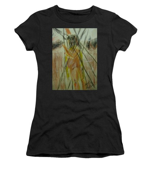 Woman In Sticks Women's T-Shirt (Athletic Fit)