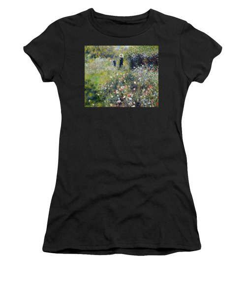 Woman With A Parasol In A Garden, 1875 Women's T-Shirt