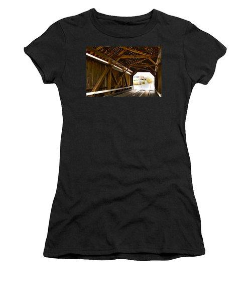 Wood Fame Bridge Women's T-Shirt (Athletic Fit)