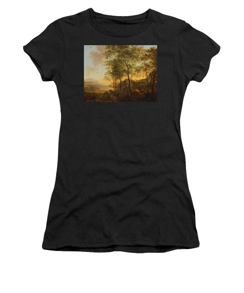 Wooded Hillside With A Vista Women's T-Shirt (Junior Cut) by Jan Both