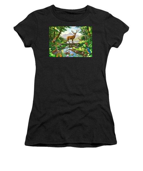 Woodland Harmony Women's T-Shirt (Junior Cut) by Chris Heitt