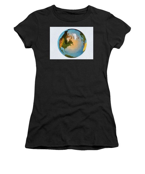 World 3d Globe Women's T-Shirt (Athletic Fit)