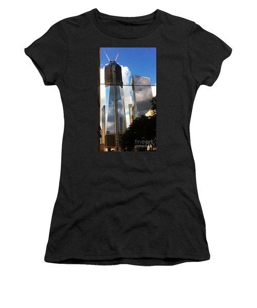 World Trade Center Twin Tower Women's T-Shirt (Junior Cut) by Susan Garren