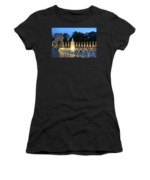 World War II Memorial Women's T-Shirt (Junior Cut) by Allen Beatty