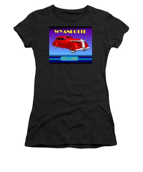 Women's T-Shirt (Junior Cut) featuring the digital art Wyandotte 1935 Lasalle by Stuart Swartz