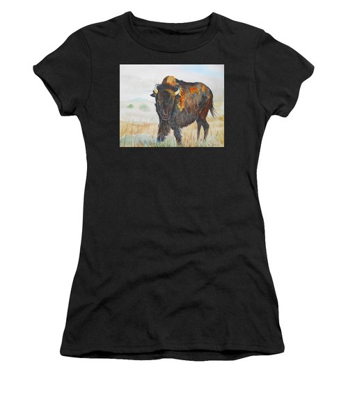 Wyoming - King Of The Prairie Women's T-Shirt (Athletic Fit)