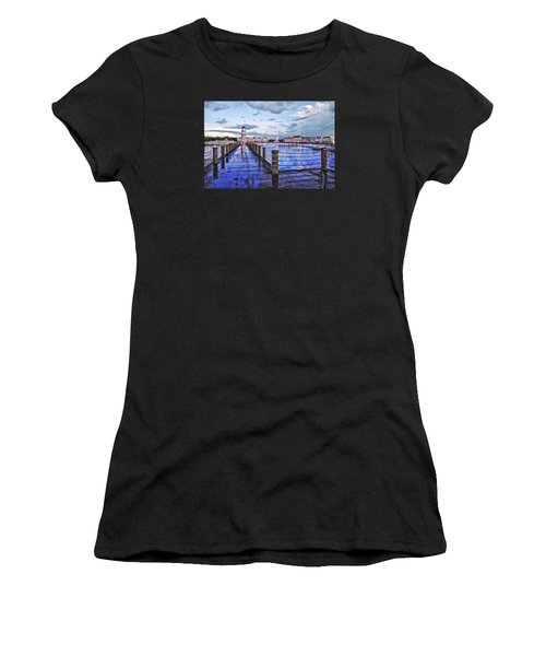 Yacht And Beach Club Lighthouse Women's T-Shirt (Athletic Fit)