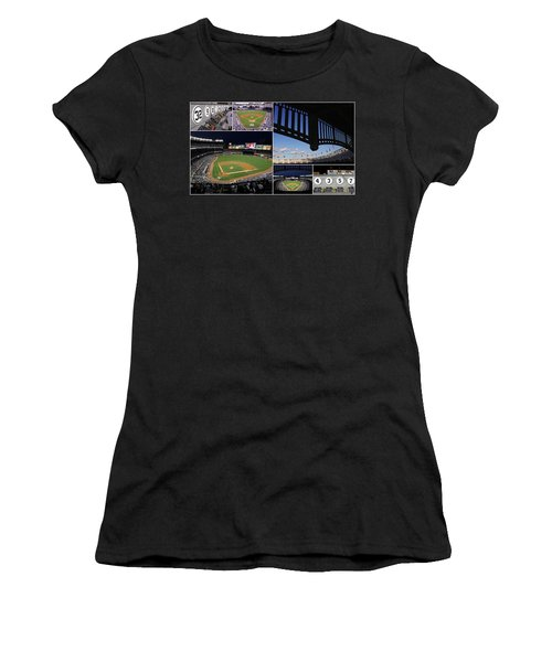 Yankee Stadium Collage Women's T-Shirt (Athletic Fit)