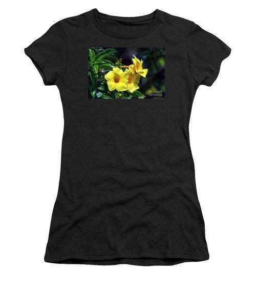 Women's T-Shirt (Junior Cut) featuring the photograph Yellow Allamanda by Teresa Zieba