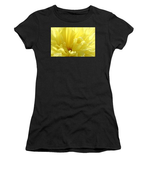 Yellow Dahlia Burst Women's T-Shirt (Athletic Fit)
