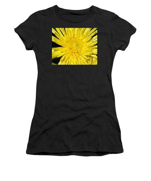 Yellow Flower Closeup Women's T-Shirt (Athletic Fit)