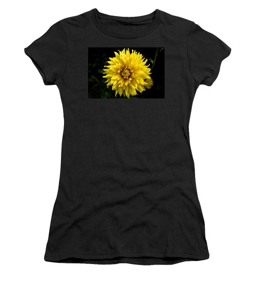 Women's T-Shirt (Junior Cut) featuring the photograph Yellow Flower by Matt Harang