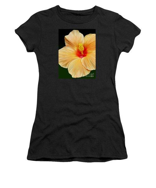 Yellow Hibiscus Women's T-Shirt (Junior Cut) by Rand Herron
