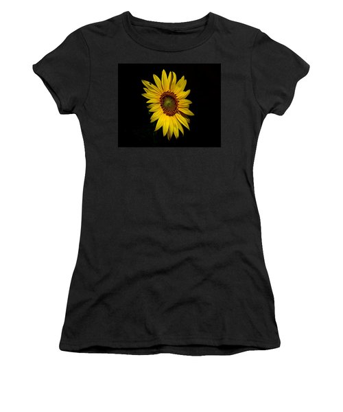 Yellow On Black Women's T-Shirt (Athletic Fit)