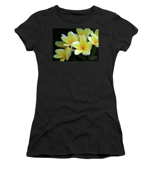 Yellow Plumeria Cascade Women's T-Shirt (Athletic Fit)