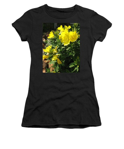 Yellow Primroses Women's T-Shirt (Athletic Fit)