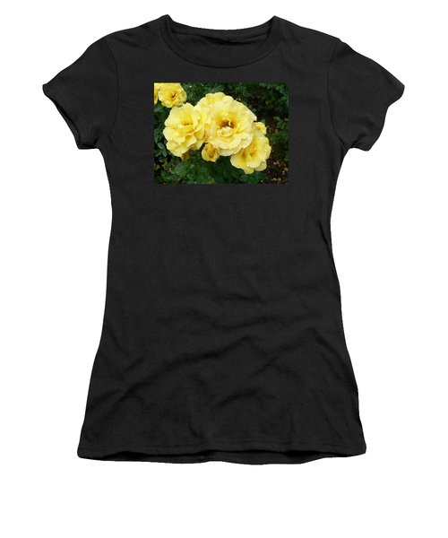 Women's T-Shirt (Junior Cut) featuring the photograph Yellow Rose Of Pa by Michael Porchik