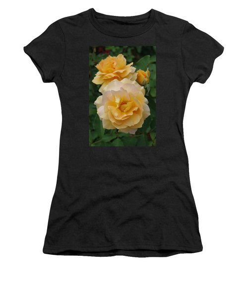Women's T-Shirt (Junior Cut) featuring the photograph Yellow Roses by Marilyn Wilson
