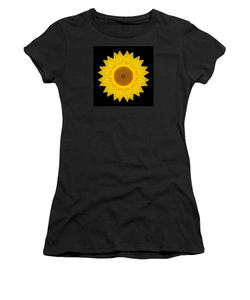 Yellow Sunflower Ix Flower Mandala Women's T-Shirt